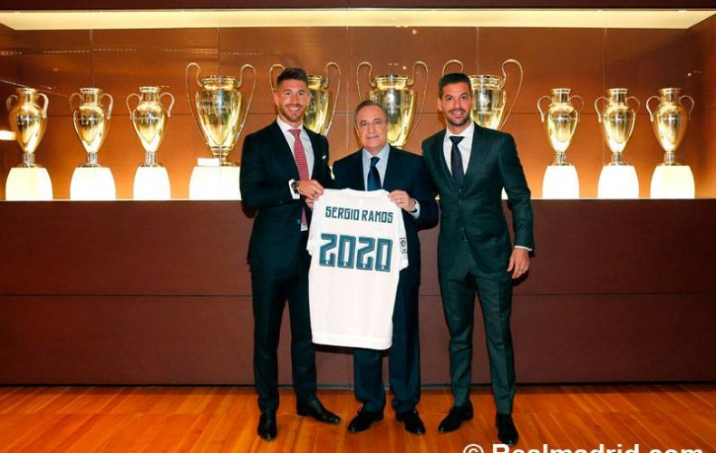Sergio Ramos renews with Real Madrid until 2020