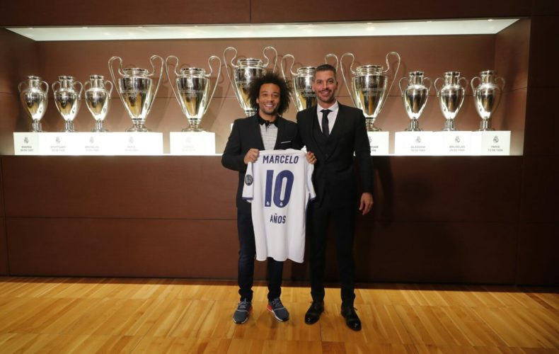 Marcelo Celebrates 10 Years at Real Madrid