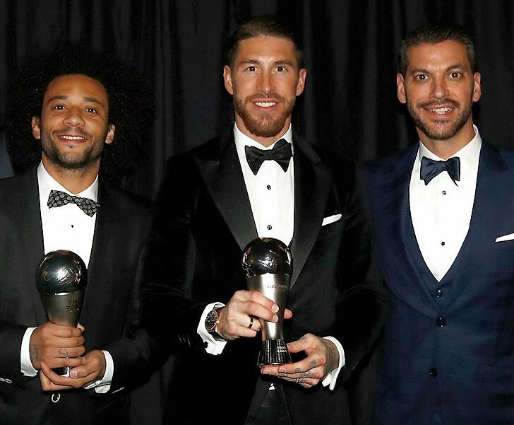Sergio Ramos and Marcelo, at the FIFA FIFPro World 11 again