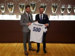 Sergio Ramos celebrates 500 official matches with Real Madrid