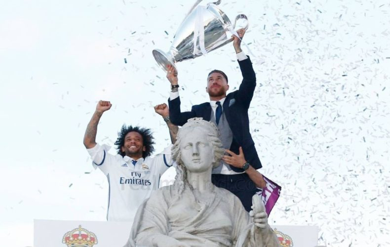 Sergio Ramos and Marcelo, European Champions for the Third Time
