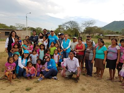 Sergio Ramos, UNICEF Ambassador, visits children affected by floods in Peru