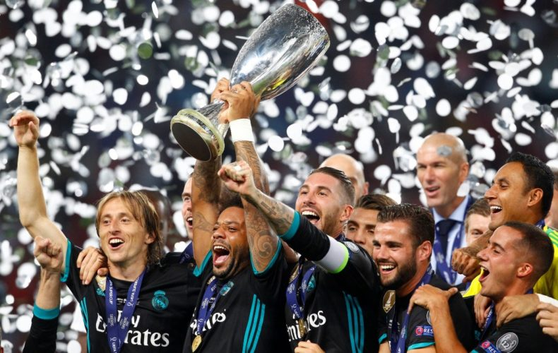 Sergio Ramos and Marcelo win their third UEFA Super Cup