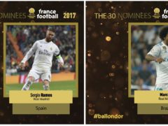 Sergio Ramos and Marcelo nominated for the Ballon d'Or 2017