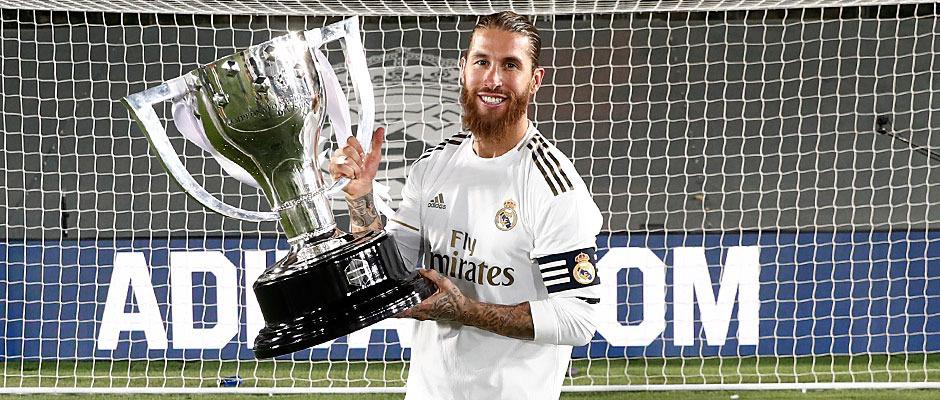 Sergio Ramos lifts his fifth league title