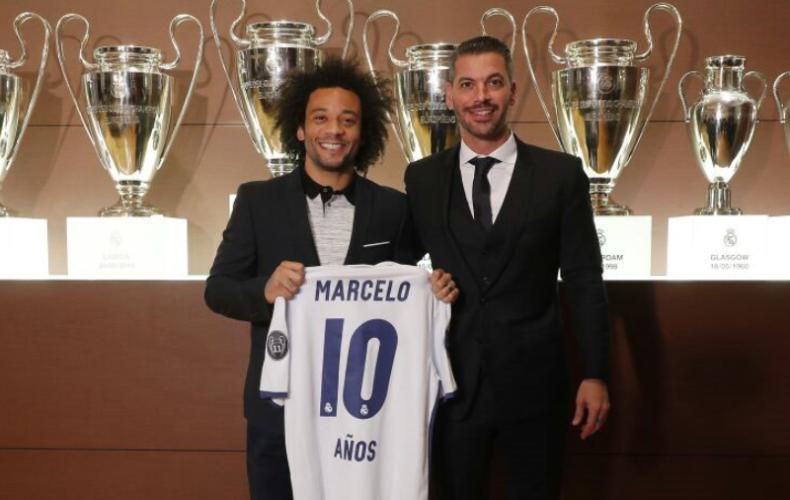 Marcelo cumple 10 años en el Real Madrid