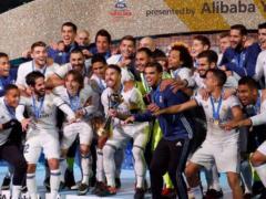 Sergio Ramos y Marcelo, campeones de la Copa Mundial de Clubes de la FIFA