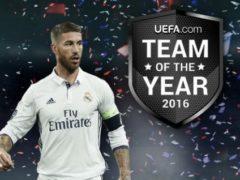 Sergio Ramos, el más votado del Equipo del Año 2016 de UEFA