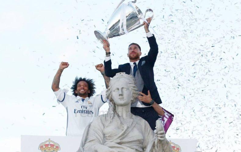 Sergio Ramos y Marcelo, campeones de Europa por tercera vez