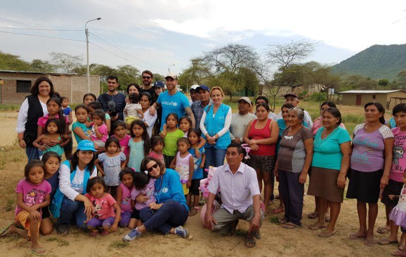 Sergio Ramos, Embajador de UNICEF, visita a los niños afectados por las inundaciones en Perú