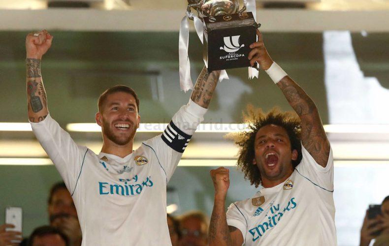 Tercera Supercopa de España para Sergio Ramos y Marcelo