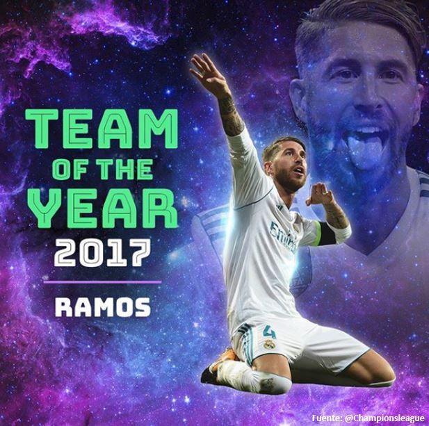 Sergio Ramos y Marcelo, los más votados en el Equipo del Año 2017 de UEFA