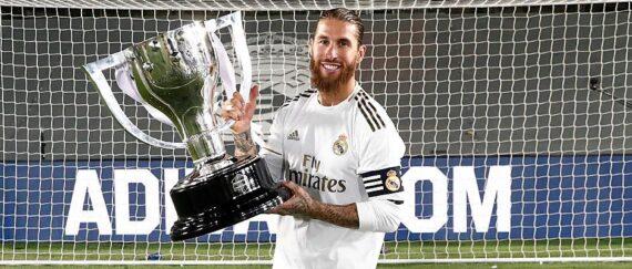 Sergio Ramos levanta su quinto título de Liga